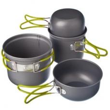 Набор посуды 4 пр., алюминий, 2-х персон, в чехле