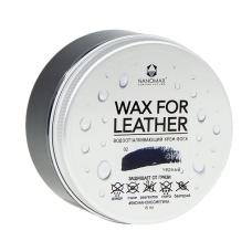 Водоотталкивающий крем-воск Nanomax Wax for Leather 75мл, черный