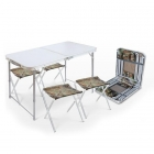 Складной стол влагостойкий + 4 стула ССТ-К2