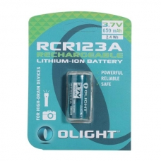 Li-ion аккумулятор Olight RCR123A емкостью 650 мАч