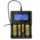 Зарядное устройство XTAR VC4 + адаптер 220 В. 2,1 Ампер