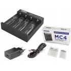 Зарядное устройство XTAR MC4 для Li-ion аккумуляторов, 4 x 0,5 Ампер, + адаптер 220 В. 2 Ампера
