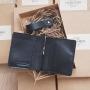 Мужское портмоне из кожи ручной работы, черное