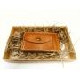 Мужское портмоне из кожи ручной работы, коричневое