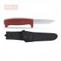 Нож Morakniv Basic 511 углеродистая сталь, пласт. ручка (красный), 12147