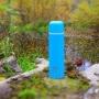 Термос с узким горлом, классический, покрытие с эффектом пластика Арктика 102-750П (синий)