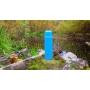 Термос с узким горлом, классический, покрытие с эффектом пластика Арктика 102-1000П (синий)