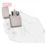 Зажигалка Zippo Armor® Brushed Chrome