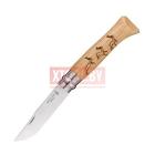 Нож Opinel №8 Animalia, нержавеющая сталь, рукоять дуб, гравировка олени