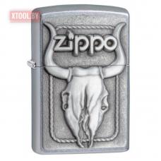 Зажигалка Zippo Bull Scull Gold Design Western