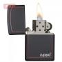 Зажигалка ZIPPO Classic Black and Red Zippo