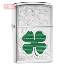 Зажигалка ZIPPO Clover High Polish Chrome Design