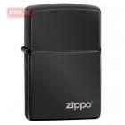 Зажигалка ZIPPO High Polish Black Zippo Logo