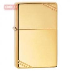 Зажигалка ZIPPO High Polish Brass Vintage with Slashes
