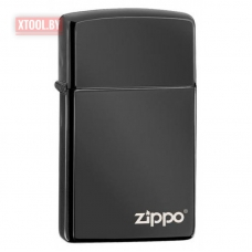 Зажигалка ZIPPO Slim® High Polish Black Zippo Logo