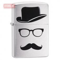 Зажигалка ZIPPO Mustache and Hat