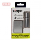 Зажигалка Zippo Street Chrome™ Lighter & Fuel Canister Set