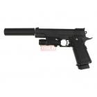 Страйкбольный пистолет Galaxy G.6A (Colt 1911, с глушителем и ЛЦУ)
