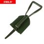 Лопата комбинированная, складная, длина 62 см, пилка, металлический черенок, с ручкой, в чехле
