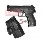 Страйкбольный пистолет Galaxy G.26+, Sis Sauer P226, черный, в комплекте кобура