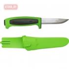 Нож Morakniv Basic 546 2019 Edition нержавеющая сталь, пласт. ручка (зеленая) чер. вставка, 13451
