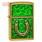 Зажигалка ZIPPO Horseshoe and Clovers Special Edition