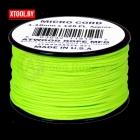 Микрокорд (микро паракорд) 1.18мм, Neon Green