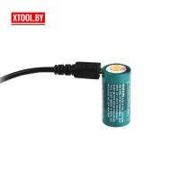 Аккумулятор Olight 16340 RCR123A 3,7V 650 mAh (+USB порт зарядки)