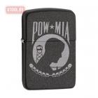 """Зажигалка Zippo 1941 Replica™ """"POW MIA"""" Black Crackle"""