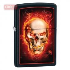 Зажигалка Zippo Burning Skull