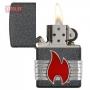 Зажигалка Zippo Flame Iron Stone