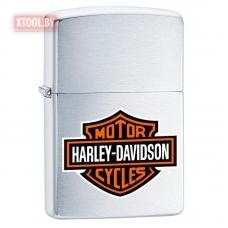 Зажигалка Zippo Harley-Davidson Logo - Brushed Chrome