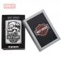 Зажигалка Zippo Harley-Davidson Skull - High Polish Chrome