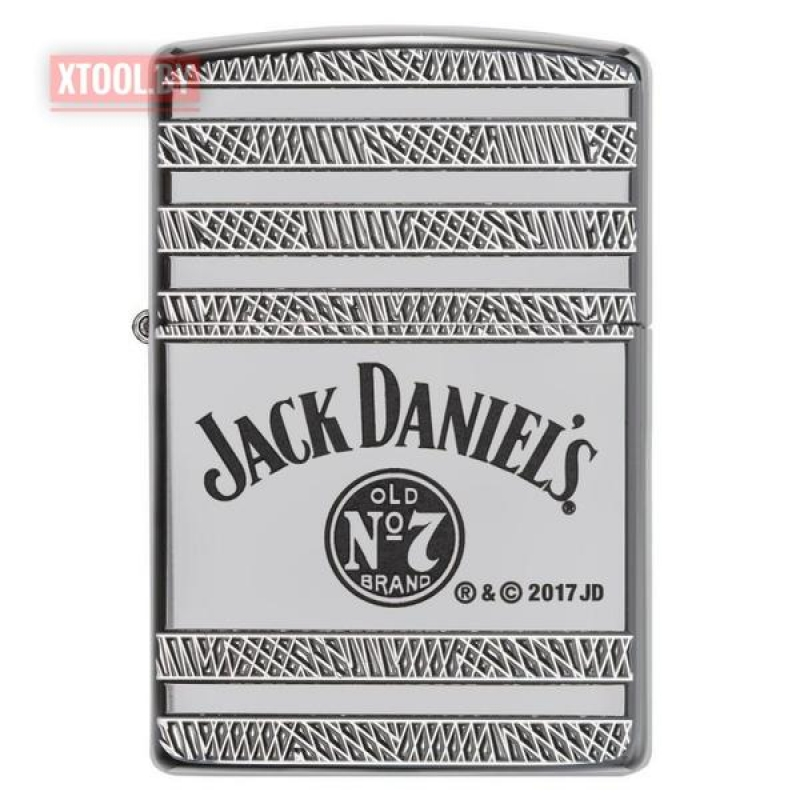 Зажигалка Zippo Jack Daniels Deep Carved Armor High Polish Chrome