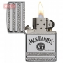 Зажигалка Zippo Jack Daniels Deep Carved Armor High Polish Chrome