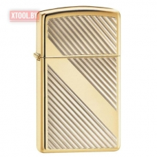 Зажигалка Zippo Lines Design High Polish Brass Slim