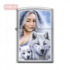 Зажигалка Zippo Mazzi Lady wiht Wolves