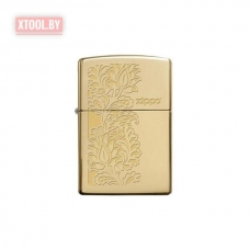 Зажигалка Zippo Paisley Design High Polish Brass