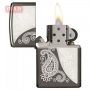 Зажигалка Zippo Paisley Design Laser Engraved Black Ice Chrome