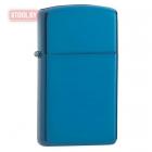 Зажигалка Zippo Sapphire Blue Slim