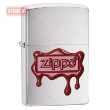 Зажигалка Zippo Wax Seal Stamp - Brushed Chrome