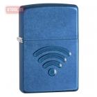 Зажигалка Zippo WiFi Stamp Cerulean Blue Finish